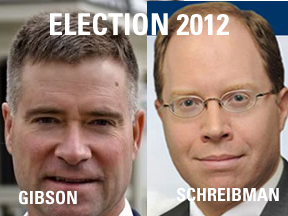 Congressman Chris Gibson (R) and Julian Schreibman (D)